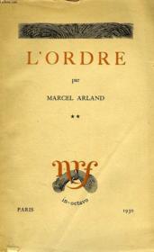 L'Ordre, Tome Ii - Couverture - Format classique