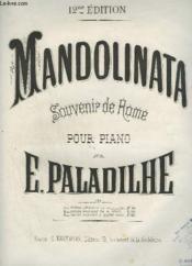 Mandolinata - Souvenir De Rome Pour Piano - Edition Originale En Mi Bemol. - Couverture - Format classique