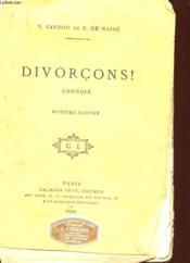 Divorcons ! - Comedie En 3 Actes - Couverture - Format classique