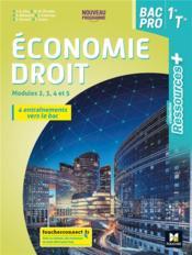 RESSOURCES + ; économie-droit ; 1re, terminale bac pro ; livre élève (édition 2020) - Couverture - Format classique