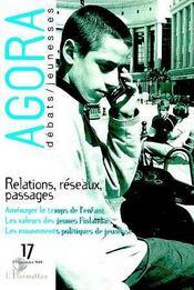 Revue Agora Debats Jeunesses T.17 ; Relations Réseaux, Passages - Couverture - Format classique