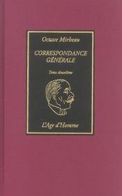 Correspondance Generale Tome 2 - Intérieur - Format classique
