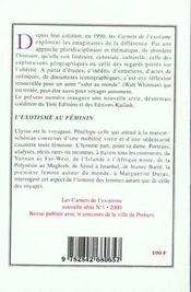 L'Exotisme Au Feminin - 4ème de couverture - Format classique