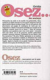 Osez ; Les Sextoys ! - 4ème de couverture - Format classique
