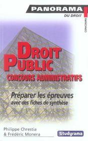 Droit public aux concours administratifs - Intérieur - Format classique
