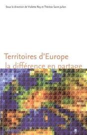 Territoires d'europe ; la difference en partage - Intérieur - Format classique