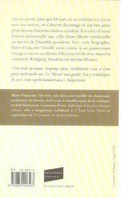 Mozart Ou L'Irreductible Liberte - 4ème de couverture - Format classique