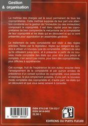 Copropriété : la nouvelle comptabilité, les nouvelles dispositions - 4ème de couverture - Format classique