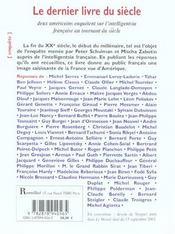 Le dernier livre du siècle ; deux Américains enquêtent sur l'intelligentsia française au tournant du siècle - 4ème de couverture - Format classique