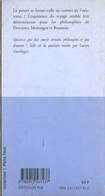Voyages de philosophies et philosophies de voyages - 4ème de couverture - Format classique