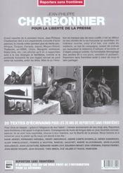 Jean-philippe charbonnier pour la liberte de la presse - 4ème de couverture - Format classique