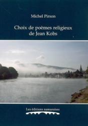 Choix de poèmes religieux de Jean Kobs - Couverture - Format classique