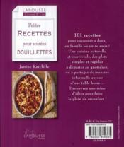 Petites recettes pour soirées douillettes - 4ème de couverture - Format classique