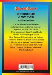 Grand galop t.611 ; un concours à New York - 4ème de couverture - Format classique