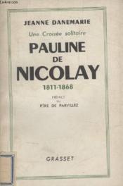 Pauline De Nicolay. - Couverture - Format classique