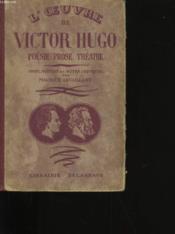 L'Oeuvre De Victor Hugo. - Couverture - Format classique