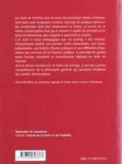Les Dates-Clefs De La Protection Des Droits De L'Homme En France - 4ème de couverture - Format classique
