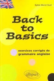 Back To Basics Exercices Corriges De Grammaire Anglaise - Intérieur - Format classique