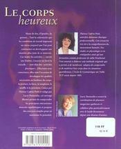 Le corps heureux ; manuel d'entretien - 4ème de couverture - Format classique