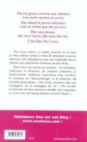 Le journal d'elsa linux - 4ème de couverture - Format classique