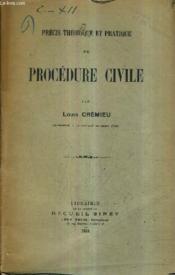 Precis Theorique Et Pratique De Procedure Civile. - Couverture - Format classique