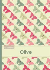 Carnet Olive Lignes,96p,A5 Papillonsvintage - Couverture - Format classique