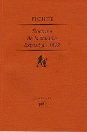 Doctrine de la science ; exposé de 1812 - Intérieur - Format classique