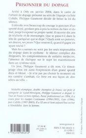 Prisonnier du dopage - 4ème de couverture - Format classique