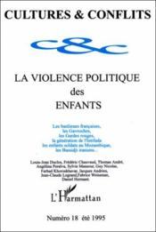 La Violence Politique Des Enfants - Couverture - Format classique