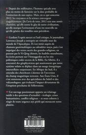 Apocalypse 2012 ; une enquête scientifique sur des catastrophes annoncées - 4ème de couverture - Format classique