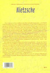 Nietzsche - 4ème de couverture - Format classique