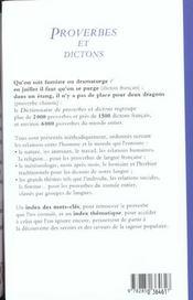 Proverbes et dictons - 4ème de couverture - Format classique