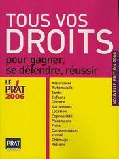 Tous vos droits pour gagner, se defendre, reussir (édition 2006) - Intérieur - Format classique