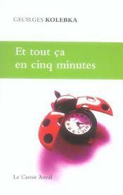 Et Tout Ca En Cinq Minutes - Intérieur - Format classique
