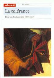 Tolerance - Intérieur - Format classique