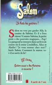 Salem T.9 ; Je Hais Les Gouters - 4ème de couverture - Format classique
