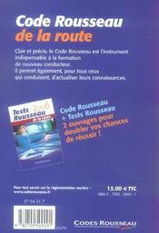 Code Rousseau (édition 2006) - 4ème de couverture - Format classique