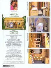 Construisez une maison et son mobilier pour poupées - 4ème de couverture - Format classique