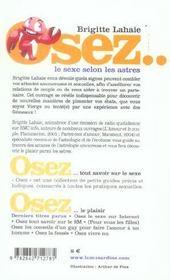 Osez ; Le Sexe Selon Les Astres - 4ème de couverture - Format classique