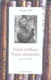 Poésie publique, poésie clandestine ; poèmes 1975-2005 - Intérieur - Format classique