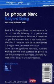 Le phoque blanc - 4ème de couverture - Format classique