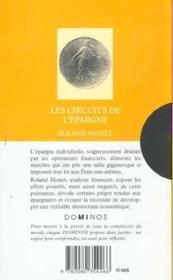 Les Circuits De L'Epargne - Couverture - Format classique