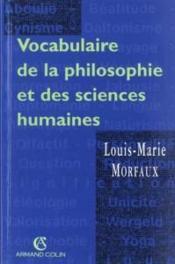 Vocabulaire De La Philosophie Et Des Sciences Humaines - Couverture - Format classique