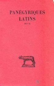 Panégyriques latin t.2 ; livre 6-10 - Couverture - Format classique