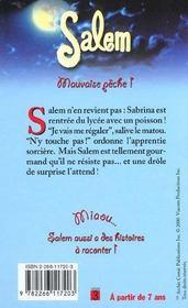 Salem T.10 ; Mauvaise Peche - 4ème de couverture - Format classique