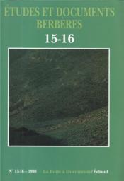 ETUDES ET DOCUMENTS BERBERES N.15 (édition 1998) - Couverture - Format classique