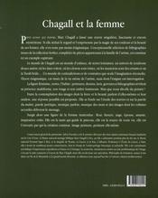 Chagall et la femme - 4ème de couverture - Format classique