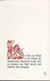 Livre De L'Ami Et De L'Aime (Le) - Couverture - Format classique