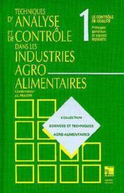Techniques D'Analyse Et De Controle Dans Les Industries Agro-Alimentaires, 2e Ed. (Les 4 Volumes) - Couverture - Format classique