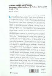 Les Corsaires Du Littoral - 4ème de couverture - Format classique